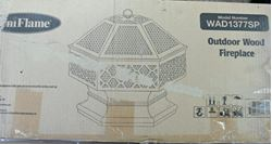 Picture of UNIFLAME HEX SHAPED OUTDOOR LATTICE FIRE PITT
