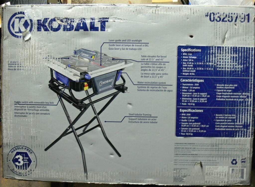 Picture Of Kobalt Kb7004 7 In Bench Tabletop Tile Saw