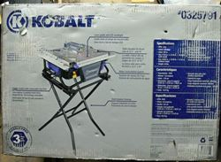 Picture of KOBALT KB7004 7-IN BENCH TABLETOP TILE SAW