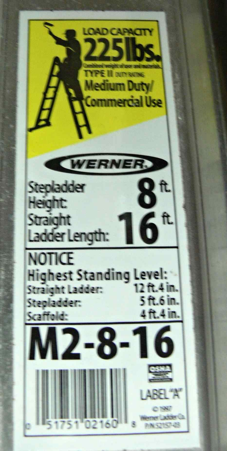 Cash Usa Pawnshop Werner Ladder M2 8 16