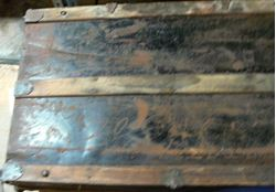 Picture of LARGE VINTAGE WOODEN CHEST