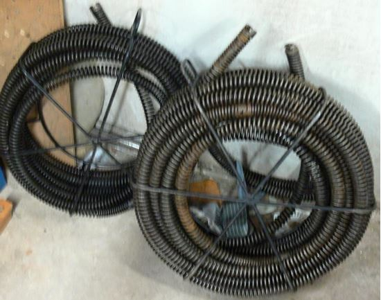 """Picture of RIGID DRAIN CLEANING CABLE 7/8"""" X 15FT SECTIONS W/ CABLE CARRIER"""