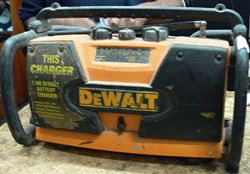 Picture of DEWALT DW911 JOB/WORKSITE RADIO & CHARGER WITH AUX INPUT