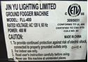 Picture of JIN YU LIGHTING LIMITED GROUND FOGGER MACHINE FLL-400