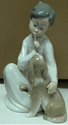 Picture of LLADRO FIGURINE BOY WITH PUPPY