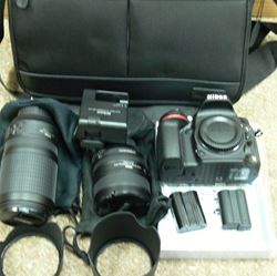 Picture of Nikon D600 24.3 MP Digital SLR Camera - Black w/ AF-S ED VR 24-85 &70-300MM LENS