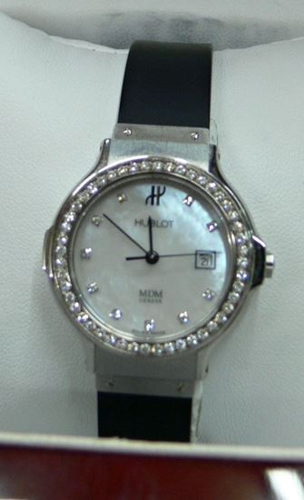 Picture of HUBLOT MDM GENEVE STAINLESS STEEL 20.0 W/ DIAMONDS WATCH