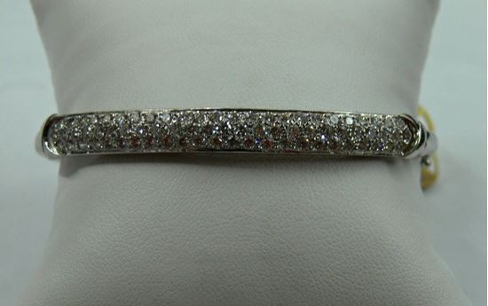 Picture of BANGLE BRACELET 14K WHITE GOLD WITH DIAMONDS