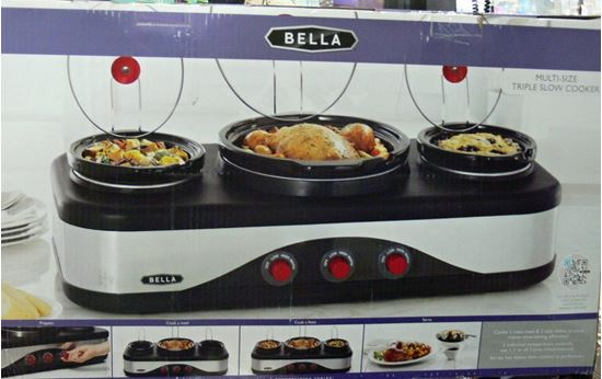 Picture of BELLA 13785 MULTI SIZE TRIPLE SLOW COOKER
