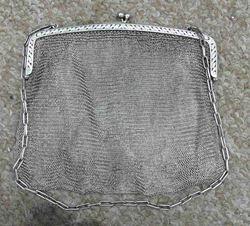 Picture of SILVER PURSE HANDBAG 286 GRAMS VINTAGE