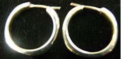 Picture of TIFFANY & CO STERLING SILVER HOOP EARRINGS