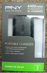 Picture of PNY 4400MAH PB44001K02RB POWERPACK PORTABLE CHARGER