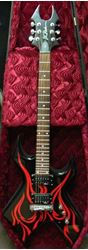 Picture of B.C. RICH WARLOCK KKW GUITAR WITH COFFIN CASE