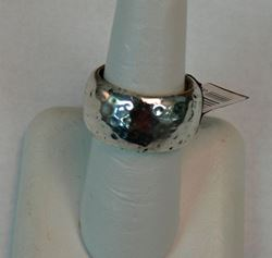 Picture of STERLING SILVER HAMMERED BAND RING SIZE 8 19.3G