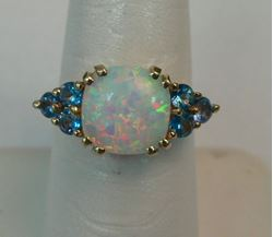 Picture of 10K YELLOW GOLD OPAL RING SZ-7 3.2G