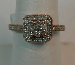 Picture of 10K ROSE GOLD DIAMOND RING SZ-7.25 2.5G