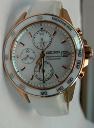 Picture of SEIKO SPORTURA CHRONOGRAPH WATCH WHITE & GOLD