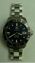 Picture of TAG HEUER MENS AQUARACER CALIBRE 5 STAINLESS STEEL BLACK DIAL WATCH SHORT BAND