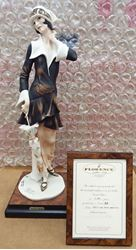 Picture of GIUSEPPE ARMANI 196/C NELLIE (LADY WITH UMBRELLA) PORCELAIN FIGURINE