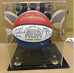 Picture of JULIUS IRVING AND CONNIE HAWKINS SIGNED ABA 30 YEAR REUNION LIMITED EDITION BALL