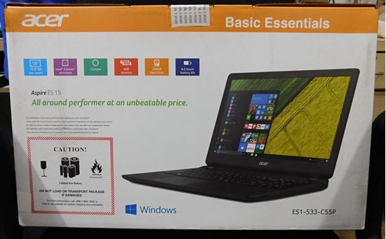 "Picture of ACER ASPIRE ES 15 ES1-533-C55P NOTEBOOK MIDNIGHT BLACK 15.6"" HD SCREEN"