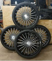 "Picture of KRONIK 22"" RIMS WITH TIRES SET OF 4"