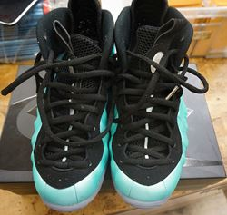 Picture of Nike Air Foamposite Pro Island Green Size 8,5 Platinum Aqua Black 624041-303