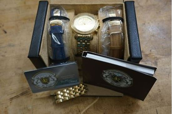 Picture of  DIAMOND JOE RODEO STAINLESS STEEL WATCH