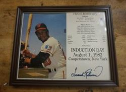Picture of FRANK ROBINSON AUTOGRAPHED PICTURE AUGUST 1ST 1982