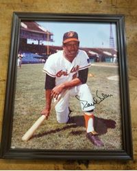 Picture of Paul Blair Autographed signed framed picture ORIOLES. BEST OFFER.