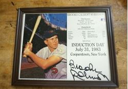Picture of Brooks Calbert Robinson Signed Autographed Photo induction day July 31st 1983