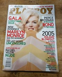 Picture of Playboy December 2005 Marilyn Monroe Vintage Magazine Nude Centerfold Pinup