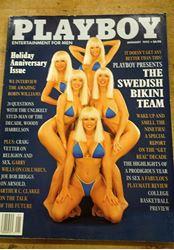 Picture of PLAYBOY January 1992 The Swedish Bikini Team