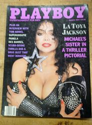 Picture of March 1989 Issue of Playboy Magazine Complete Featuring La Toya Jackson #4 GOOD