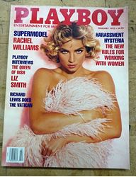 Picture of PLAYBOY FEBRUARY 1992  RACHEL WILLIAMS