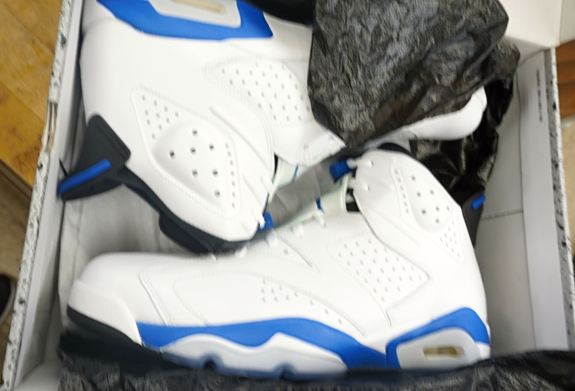 size 40 b40b8 620e9 ... Picture of Air Jordan 6 Retro Sport Blue (2014) DS Sz 13 (384664 ...