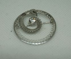 Picture of STERLING SILVER SNAKE PIN WITH ROUND CUBIC ZIRCONIA  3.1GR