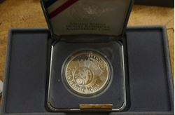 Picture of 1991 Dollar - Mount Rushmore Anniversary Proof Coins With Box and COA