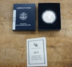 Picture of 2012-W One Ounce PROOF Silver American Eagle With Box & COA MINT