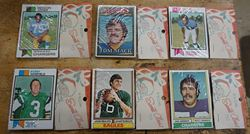 Picture of LOT 6 COLLECTIBLE FOOTBALL CARDS (CHRISTMAS) SEALED MINT. NEW. COLLECTIBLE - JOHN REAVES (EAGLES) BOBBY HOWFIELD (JETS) CARL GERSBACH (CHARGERS) GENE HOWARD (RAMS) TOM MACK (RAMS) DEACON JONES  ( CHARGERS).