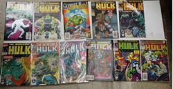 Picture of LOT 11 THE INCREDIBLE HULK COMICS 415 MARCH; 387 NOVEMBER;  413 JANUARY; 292 FEBRUARY;  334 AUGUST; 382 JUNE; 437 JANUARY; 383 JULY;  80 DECEMBER; 424 DECEMBER ;425 JANUARY . GOOD CONDITION.