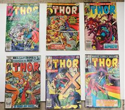 Picture of LOT 6 MARVEL COMICS THOR 331 MAY; 303 JANUARY; 316 FEBRUARY; 310 AUGUST; 245 MARCH; 288 OCTOBER. GOOD CONDITION.