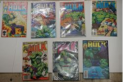 Picture of LOT 7 THE INCREDIBLE HULK MARVEL COMICS #24; 297 JULY; 283 MAY; 409 SEPTEMBER; 411 NOVEMBER ; 13 1984; 327 JANUARY. GOOD CONDITION. COLLECTIBLE.