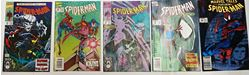 Picture of LOT 5 SPIDER MAN MARVEL  COMICS 264 AUGUST; 8 FEBRUARY; 14 SEPTEMBER; 59 MAY; 10 MAY. GOOD CONDITION. COLLECTIBLE.