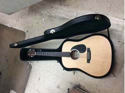 Picture of Electric guitar acoustic DRS2 pre owned with hard case . Very good.