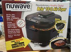 Picture of NuWave Brio Digital Air Fryer REVOLUTIONARY  DIGITAL 37101 (10 qt, Black) NEW