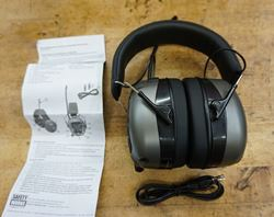 Picture of SAFETY WORKS HEADPHONES NEW WITH MANUAL AND WIRES. NEW. OUT OF BOX.