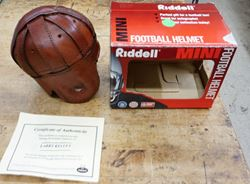 Picture of LARRY KELLEY SIGNED MINI HELMET WITH COA RIDDELL MINT CONDITION. COLLECTIBLE.LARRY KELLEY SIGNED MINI HELMET WITH COA RIDDELL MINT CONDITION. COLLECTIBLE.