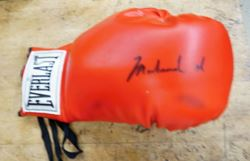 Picture of Muhammad Ali Signed Autograph Full Size Everlast Boxing Red  Glove VERY GOOD CONDITION. COLLECTIBLE.
