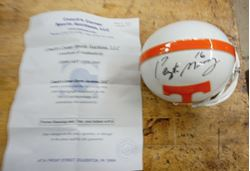 Picture of PEYTON MANNING #16 AUTO TENN MINI HELMET SIGNED WITH COA RIDDELL MINT CONDITION.COLLECTIBLE.